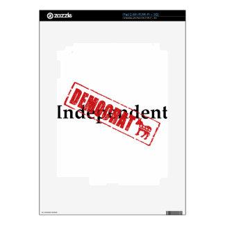 Independiente: DEMÓCRATA iPad 2 Calcomanías