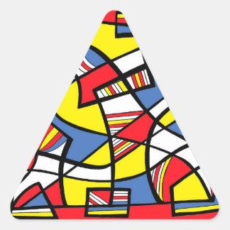 Independiente endosada respuesta afirmativa eficaz pegatina triangular
