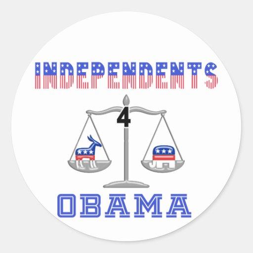 Independientes 4 Obama Etiqueta