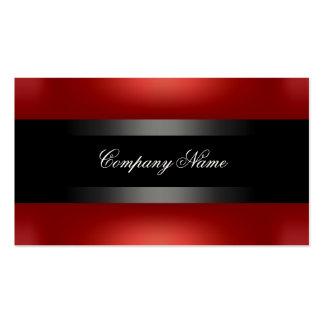 Indestructible negro rojo elegante tarjetas de visita