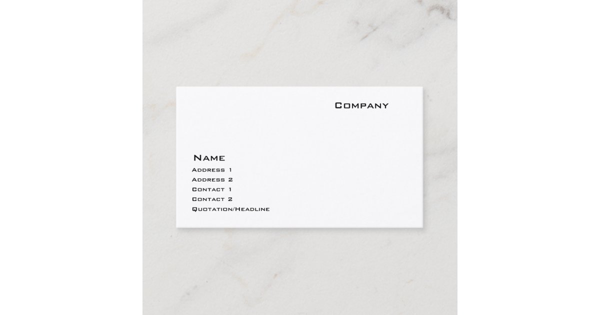 Indestructible Paper Stock Business Card | Zazzle.com