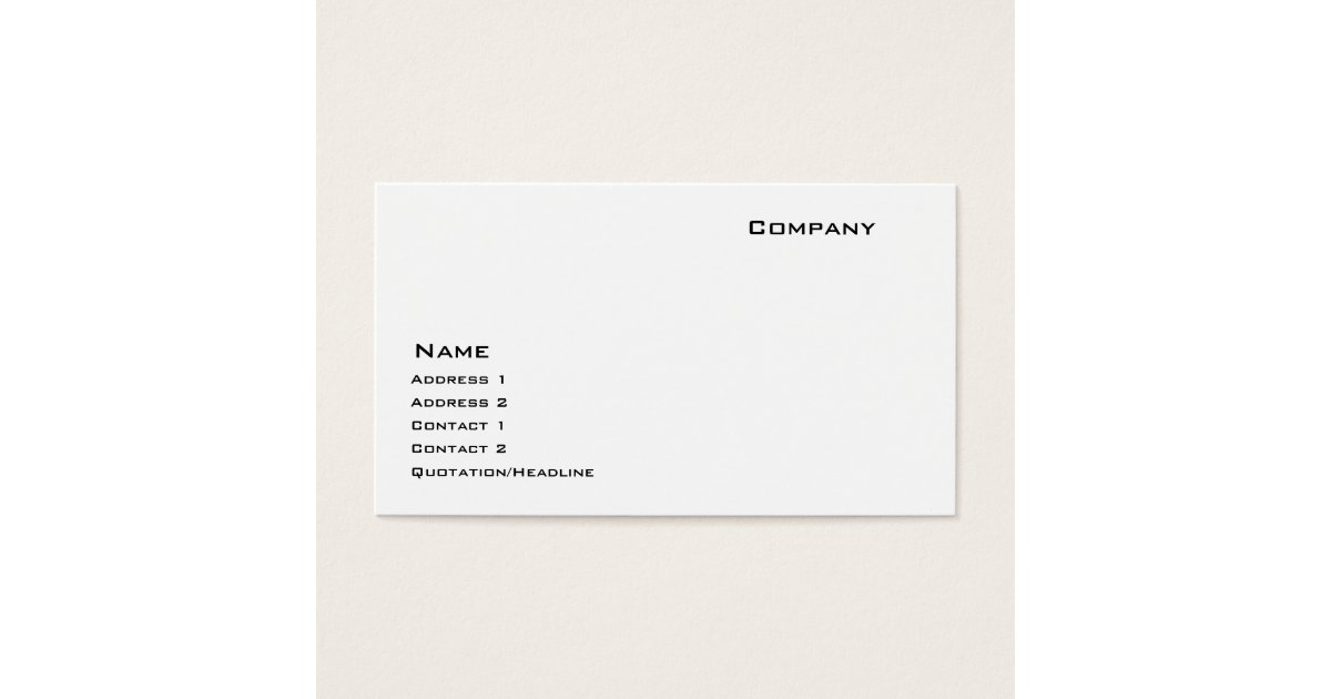 Indestructible Paper Stock Business Card | Zazzle.com