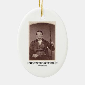 Indestructible (Phineas Gage) Adorno Ovalado De Cerámica