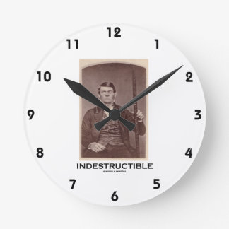 Indestructible (Phineas Gage) Round Clock