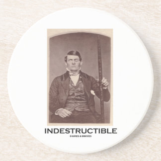 Indestructible (Phineas Gage) Sandstone Coaster