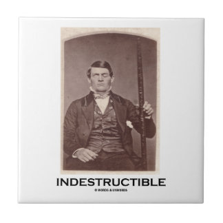 Indestructible (Phineas Gage) Small Square Tile