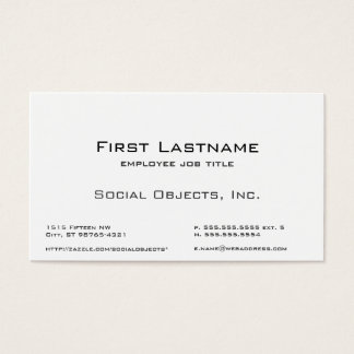 Indestructible Serif Bank Gothic Template Business Card