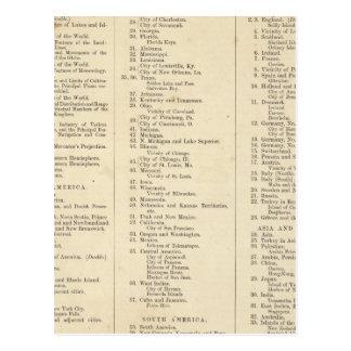 Index Atlas of the World Postcard