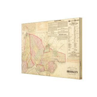 Index Brooklyn map Canvas Print