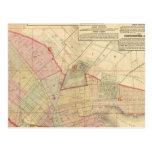 Index Brooklyn map Postcard