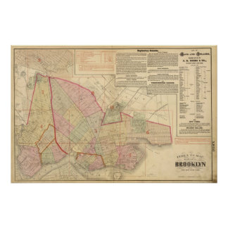 Index Brooklyn map Poster