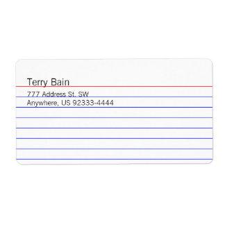 Index Card Label