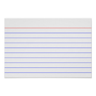Index Card Poster