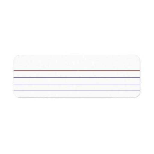Index Card Return Address Label