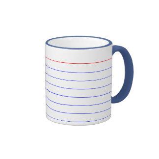 Index Card Ringer Coffee Mug