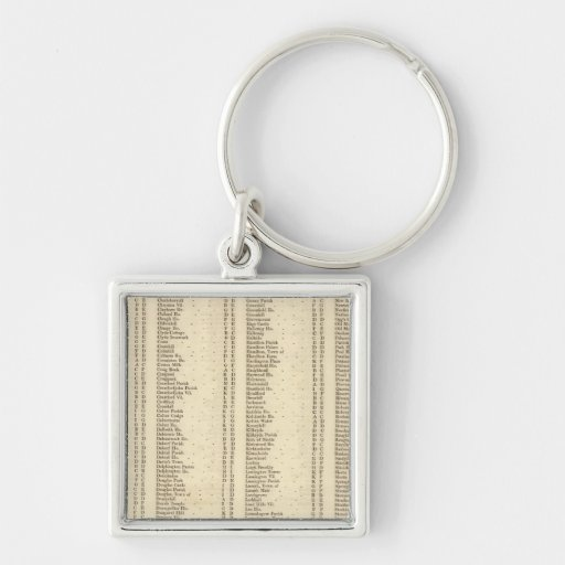 Index Lanarkshire Silver-Colored Square Keychain