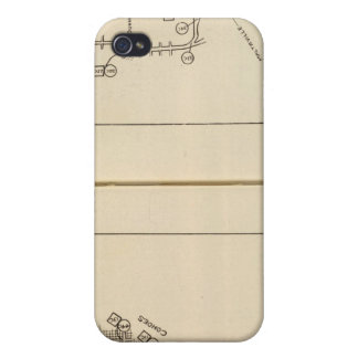 Index map Albany, Saratoga Springs iPhone 4 Covers