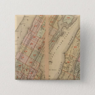 Index map Atlas, city of New York Pinback Button