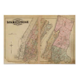 Index map Atlas city of New York Posters