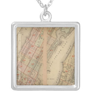 Index map Atlas, city of New York Square Pendant Necklace