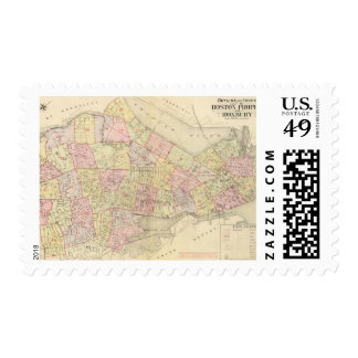 Index Map of Boston Postage Stamps