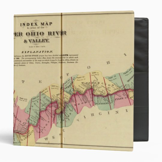 Index map to Atlas of the Upper Ohio River Binder