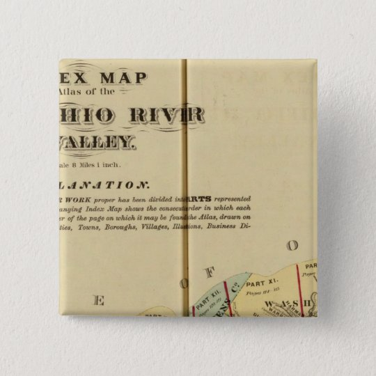 Index map to Atlas of the Upper Ohio River Pinback Button