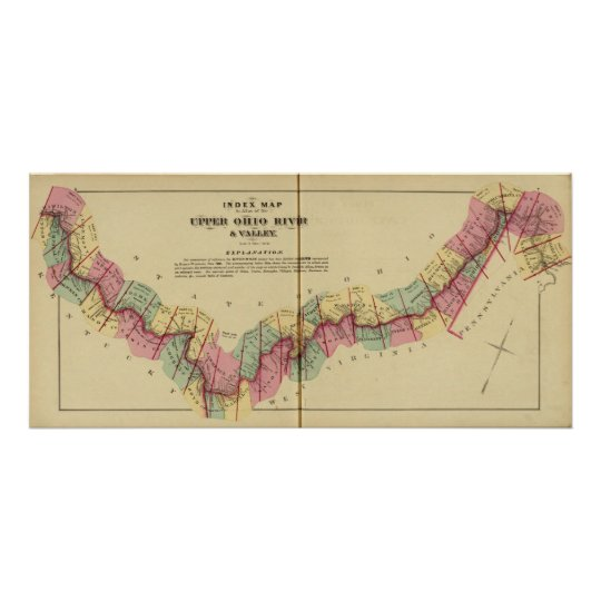 Index map to Atlas of the Upper Ohio River Poster