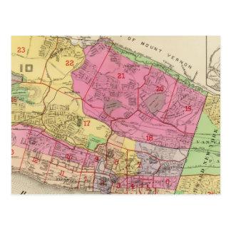 Index map Yonkers atlas Postcard