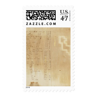 Index Michigan and Indiana Border Survey Postage