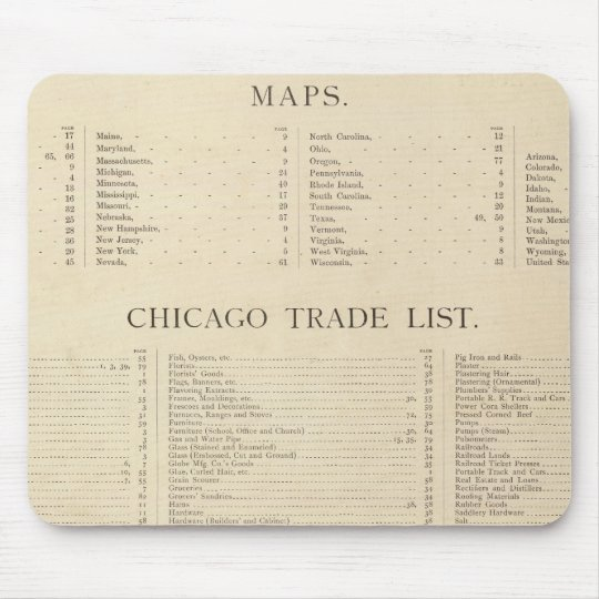 Index New commercial atlas Mouse Pad