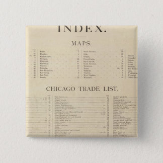 Index New commercial atlas Pinback Button