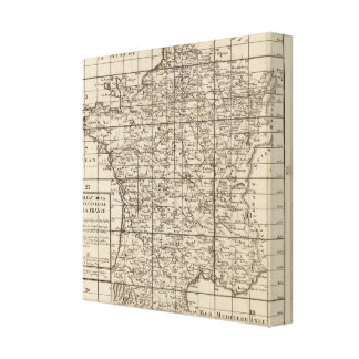 Index of France Canvas Print
