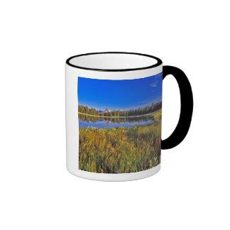 Index Peak reflects into Mud Lake on the Coffee Mug