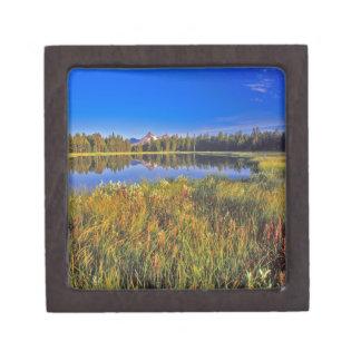 Index Peak reflects into Mud Lake on the Premium Gift Box