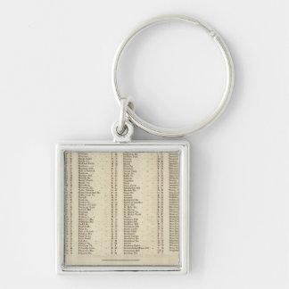 Index Perth, Clackmannan Silver-Colored Square Keychain