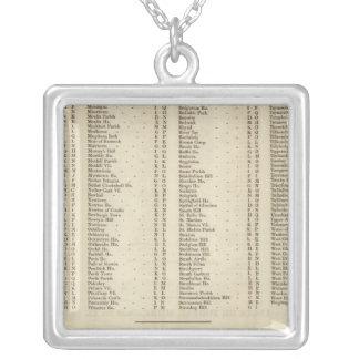 Index Perth, Clackmannan Square Pendant Necklace