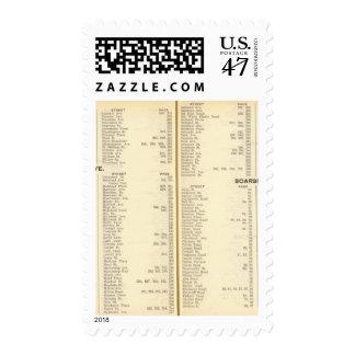 Index Rye, Scarsdale Stamp