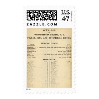 Index Towns, Bronxville Postage