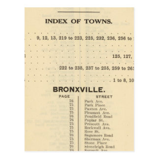 Index Towns, Bronxville Postcard