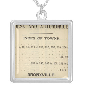 Index Towns, Bronxville Silver Plated Necklace
