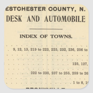 Index Towns, Bronxville Square Sticker