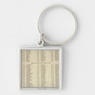 Index Western Islands, Ross, Cromarty Shires Keychain