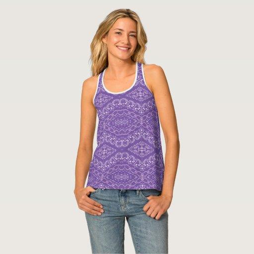 Indi pattern-89 Lilac Tank Top