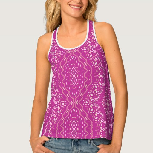 Indi pattern-89 Purple Tank Top