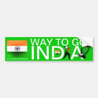 India 2011 Cricket World Champs  Bumper Sticker Car Bumper Sticker