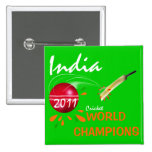 India 2011 ICC Cricket World Cup Champions Button