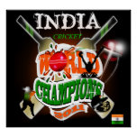 India 2011 ICC Cricket World Cup Champions Print