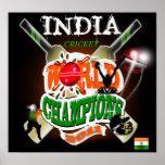 India 2011 ICC Cricket World Cup Champions Print