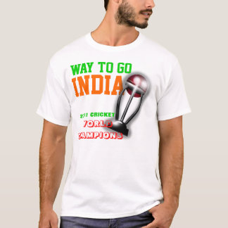 India 2011 ICC Cricket World Cup Champions Shirt